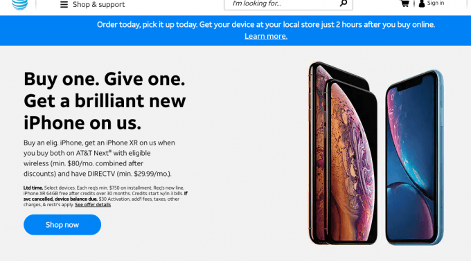 AT&T Black Friday iPhone deals, sales and ads