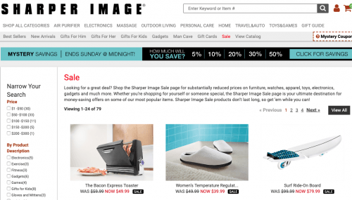 The Sharper Image Black Friday 2019 deals, sales, and ads
