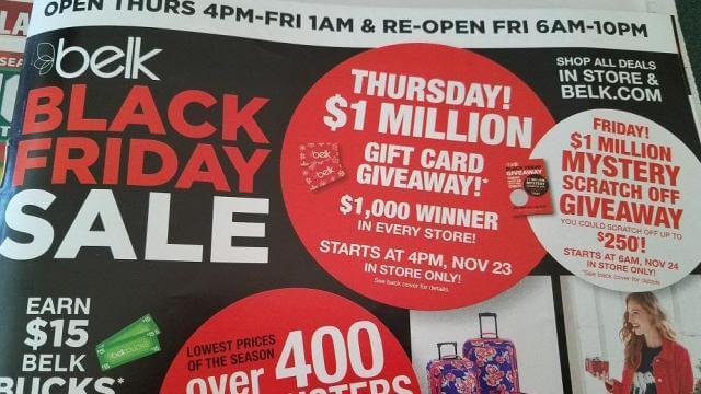 Belk Black friday sale