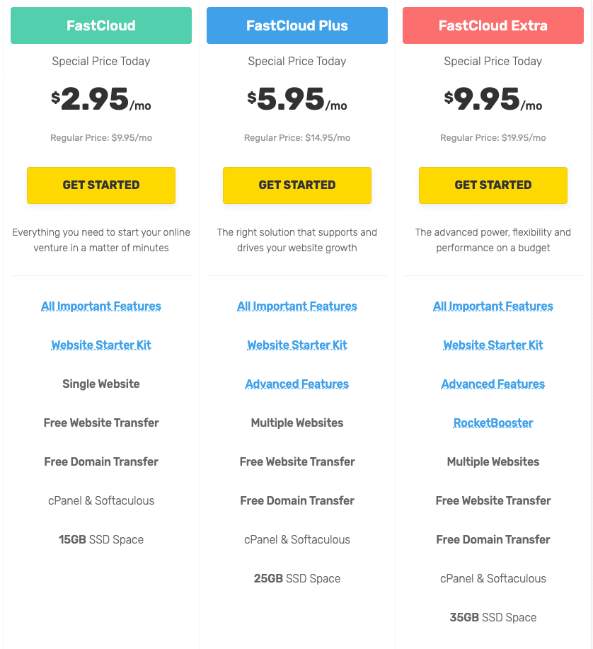 fastcomet-pricing