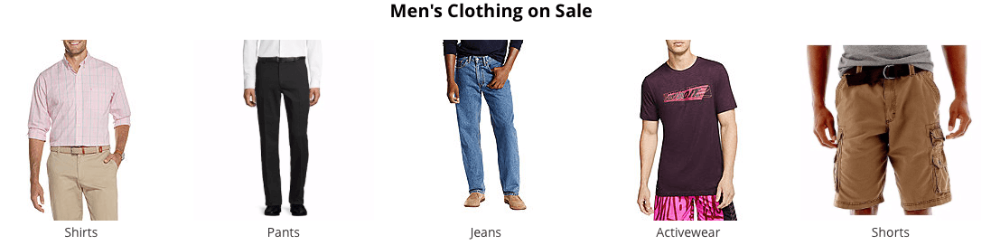 JCPenney Men's clothing Cyber Monday deals