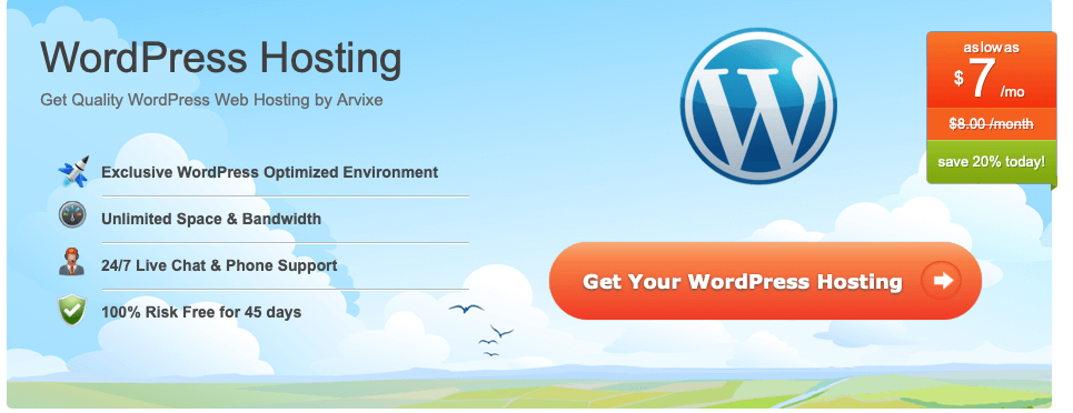Arvixe Review wordpress hosting