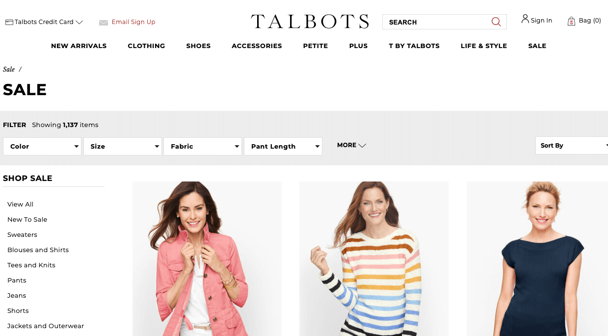 Talbots Black Friday Deals, Sales & Ads