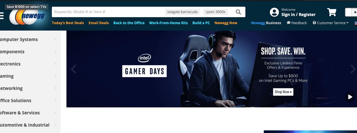 Newegg Cyber Monday Deals
